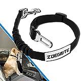 Zoegate Premium Hunde Sicherheits Gurt Katzen Auto Sicherheitsgeschirre Hunde , einstellbar Hundegurt mit elastische Ruckdämpfung für alle Hunderassen mit besonders elastischer Ruckdämpfung für maximalen Komfort