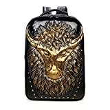 JUNBOSI Sac à Dos Creative Laptop Backpack Punk Style Large Capacity Casual Men and...