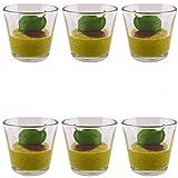 K7plus® 6er Set Dessertgläser Dipgläser Dip Schalen aus Glas - ca. 100 ml Volumen Inhalt