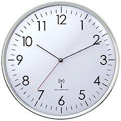 Idea Regalo - TFA Dostmann 60.3514 - Orologio da Parete Radiocontrollato, Bianco