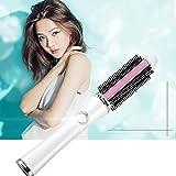 Unbekannt Heiße Lockenbürste Friseursalon Hot Curl Cranking Styling Nährende Volumen Haarbürste Werkzeug Weiß