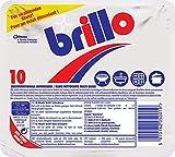 Brillo Seifenkissen, Topfkratzer aus Stahlwolle mit Seife, 1er Pack (1 x 10 Stück)
