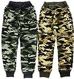 VanessasShop 2er Pack Jungen Camouflage Jogginghosen in den Größen 122-170 (140-146)