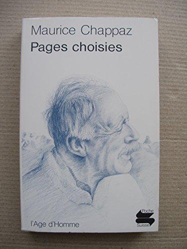 Pages choisies (Poche suisse) par Maurice Chappaz