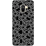 MADANYU Get Trap In Black Black Trap Pattern Trendy Pattern Designer Printed Hard Back Shell Case For Samsung A8 Plus