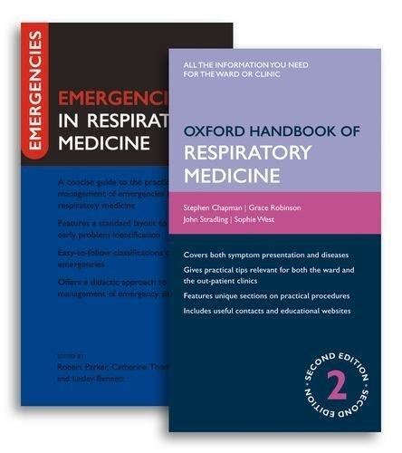 Oxford Handbook of Respiratory Medicine and Emergencies in Respiratory Medicine Pack (Oxford Handbooks Series) 2nd edition by Chapman, Steven, Robinson, Grace, Stradling, John, West, Sop (2009) Flexibound