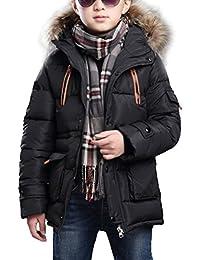 MILEEO Winterjacke für Jungen Jungen Baumwolle Mit Kapuze Jacke Wintermantel Mantel Parka Outerwear