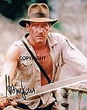 Harrison Ford indiana Jones firmato fotografia edizione limitata + stampato Autograph