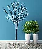 (63 cm x 100 cm), Vinyl, Baum im Winter ohne Blätter, Natur-Herbst-Kollektion Art Decor Home Sticker/Abnehmbare DIY Wandsticker, Vinyl, inklusive zufällig Geschenk!