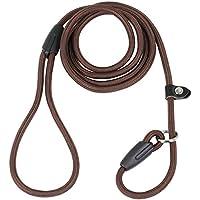 DIGIFLEX Braune Anti Slip Hundeleine aus Nylon und Baumwolle zur Hundeerziehung Solide und Haltbar Einstellbare Halsgröße