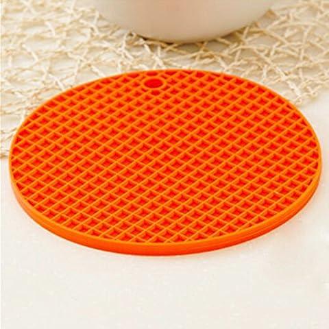 Creative casa silicone ciotola stuoia/ Lazy Susan cucina calda pad/ pentola/Tovaglietta/ anti-scivolo coaster/ tondo Tovaglietta-A 17x17cm(7x7inch)