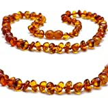 Best Amber Teething Necklaces - Baltic Secret New Baltic Amber Necklace, Polished Cognac Review