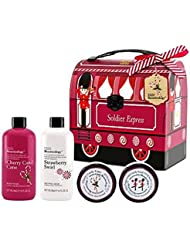 Baylis & Harding Beauticology Soldier Train Tin Gift Set includes 300ml body wash,, 300ml shower cream and 2 50ml body butter tubs