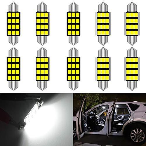 1af7b068de988 KaTur Super Bright 5630 Chipsets Aluminum CanBus Error Free 1.72'' 42mm  DE3175 DE3021 DE3022 6428 7065 LED Festoon Car Interior Door Map Dome  Lights ...