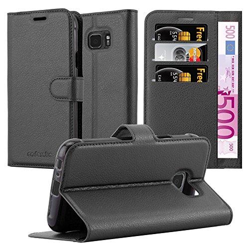 Cadorabo Hülle für Samsung Galaxy S7 Active - Hülle in Phantom SCHWARZ - Handyhülle mit Kartenfach & Standfunktion - Case Cover Schutzhülle Etui Tasche Book Klapp Style