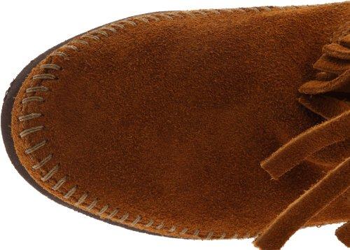 Minnetonka 3-Layer Fringe Damen Halbschaft Mokassin Boots Braun (Brown 2)