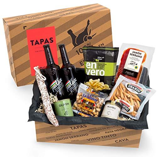 Präsentkorb Spanische Delikatessen - TAPAS I gefüllter Geschenkkorb mit Bier & Spezialitäten aus Spanien I köstliches…