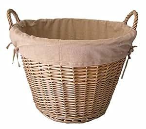 Antique Wash Terminer Lined panier à bûches