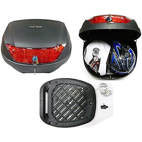 Bauletto moto, Bagagli Top Contenitore, Touring Bauletti 51L caso, Indietro Scatole di stoccaggio per scooter moto, Raso nero