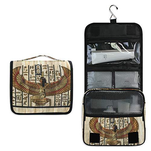 DOSHINE Kulturtasche mit antiker Religion, ägyptisches Pergament, zum Aufhängen, große Aufbewahrung, Make-up-Tasche für Frauen, Mädchen, Reisen, Badezimmer