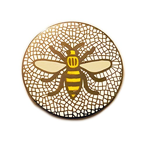 Manchester Bee Badge Selection (Mosaic Yellow)
