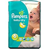 Pampers Baby Dry Taille 6 Extra Large 16 kg + (19) - Paquet de 6