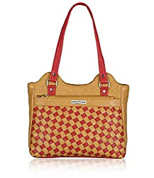 Fantosy Women's Handbag Beige and Red (FNB-568)