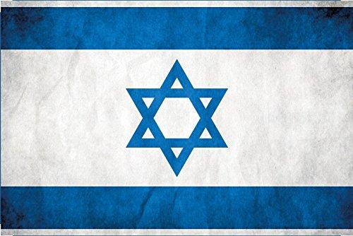 Paesi Bandiera-Israele-National Bandiera barschild, Dekoschild, Retro