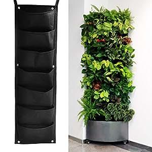 Easydeal 7 pocket aufh ngen vertical garden bertopf for Wandhalterung pflanzen