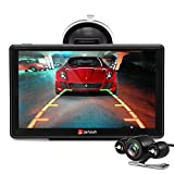 Junsun Car GPS Sat Nav 7 inch Bluetooth 8GB with Rear view Camera 256MB DDR/800MHZ Lifetime UK and Europe Map Updates
