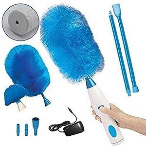 WXQY Spazzola per la Pulizia della Polvere Collettore di Polvere Blu Girevole a Carica elettrica a 360 Gradi