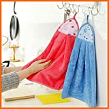 #3: Plain Washbasin Hand Napkin/Towel / Ring Towel - Set of 10 - Assorted