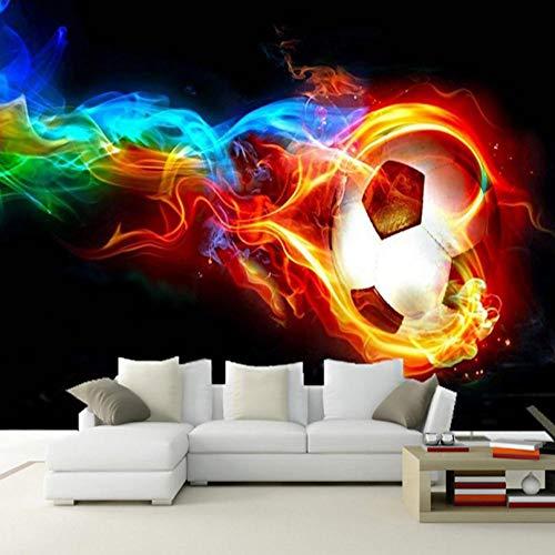 3D Wand Tapete moderne Kunst Farbe gestreiften Fußball Design Wohnzimmer Schlafzimmer Dekoration Tapete -