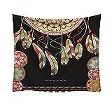 Qmber 2019 Indischer Wandteppich Tuch Wandtuch Wandbehang Mandala Gobelin Tapestry Goa Indien Hippie Boho Stil als Dekotuch Alte Musterfrische Art Ägypten Dekorativ/C