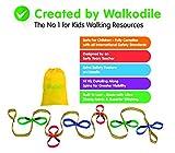 Grab & Go (für 12 Kinder) - Kinder Wandern Seil. Sicherheitsleine für Kinder. Premium Qualität, Lehrer Konzipiert. Zusätzliche Sicherheitsfunktion an den Griffen. Hi Viz Details.