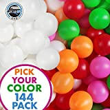 Beer Pong Plastic Balls Bulk - 144 Pack of Washable Ping Pong Balls for Beer Olympics Drinking Games Table Tenis Carnival Beer Pool Games Assorted Colors Ball 38 mm Party Decorations Indoor & Outdoor