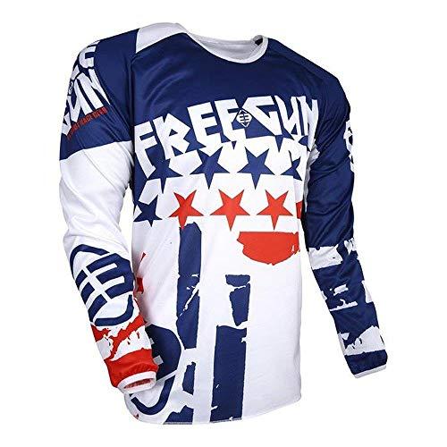 Shot FREEGUN DEVO KID USA Motocross Kinder Jersey 2018 - blau rot (Motocross Jersey Usa)