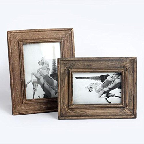 18*23cm Koly Marco de la foto de la vendimia Decoración de la boda de madera de los marcos La