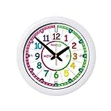 Orologio per bambini EasyRead Time Teacher con sistema di insegnamento semplificato dell'ora a 3 fasi, diametro 29 cm, per imparare a leggere l'ora, età 5-12 anni