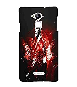 For Coolpad Note 3 Football, Red, Foot Ball player Pattern, Amazing Pattern, Printed Designer Back Case Cover By CHAPLOOS