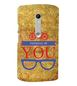 Thinking Of You 3D Hard Polycarbonate Designer Back Case Cover for Motoroal Moto X Play