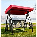 LUSHEN Columpio Banco Al aire libre patio del jardín con asiento 2/3 colgantes del asiento con los amortiguadores