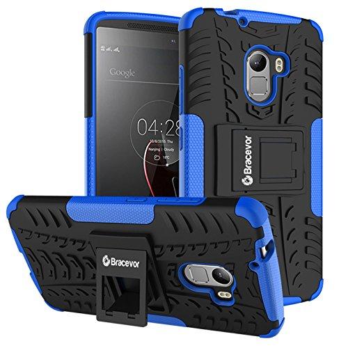 Bracevor Shockproof Lenovo Vibe K4 Note Hybrid Kickstand Back Case Defender Cover - Blue