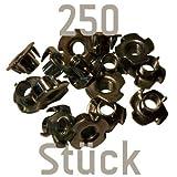 250 Einschlagmuttern M10 verzinkt für Kletterwände