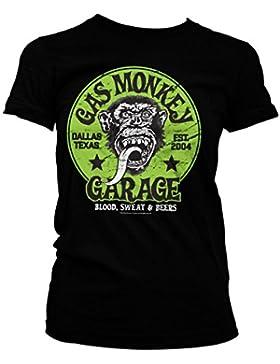 Officially Licensed Merchandise Gas Monkey Garage - Green Logo Girly Tee