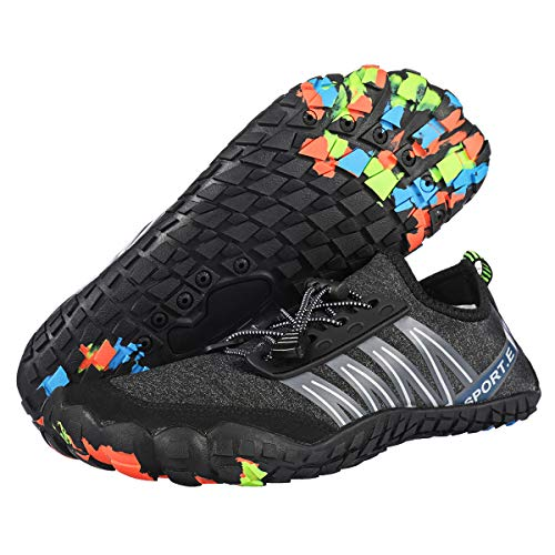 Camfosy Herren Atmungsaktiv Wasserschuhe Schnell Trocknend Strandschuhe Outdoor Sport Schuhe Damen Breathable Aquaschuhe Schwimmschuhe rutschfest Surfschuhe