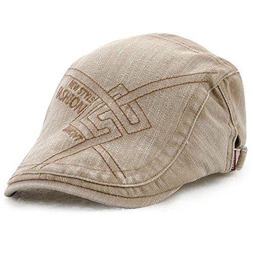 e flacher Deckel Cabbie Cap Outdoor modische Unisex einstellbare Duckbill Hut Hut Beret Cap Newsboy (X Männer Weibliche Charaktere)