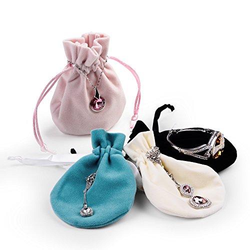 Oirlv 20pcs velluto coulisse sacchetti piccoli sacchetti in peluche per gioielli imballaggio display wedding party bags e velluto, colore: multicolour, cod. oirlv