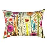 Pu Ran - Copricuscino in lino con stampa alla moda per divano, letto, casa e ufficio 3#