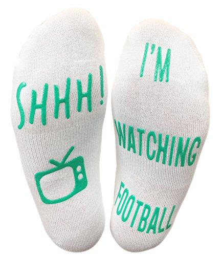 "Price comparison product image ""Shhh I'm Watching Football"" Funny Socks"